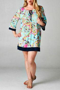 Boho Paisley Plus Size Tunic