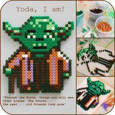 Yoda - Star Wars / hama perler beads / Bügelperlen - Perler Bead jewelry - Fuse bead designs - Perler Bead - Perler bead art - #perlerbead