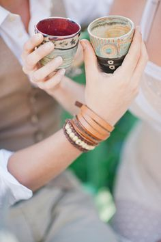 western inspired drinking cups // photo by IYQ Photography