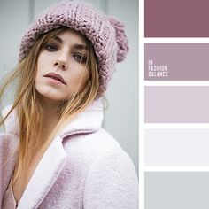 ash-pink, casual outfit, coat oversize, grey, knitted hat, light grey, light pink, light purple, pink coat, silver, wool coat.