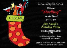 Christmas Stocking Holiday Party Invitation Christmas