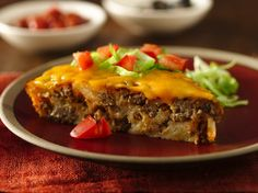 Gluten Free Impossibly Easy Taco Pie. A perfect dinner in under an hour. Favorite year after year.