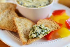 A healthy version of the classic app, Cheesy Spinach and Artichoke Dip. 21 Day Fix approved!! 1 Green, 1/2 Red, 1/2 Blue, 1/2 Yellow