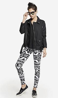 AZTEC SEXY STRETCH LEGGING #Express #EastwoodPinPals