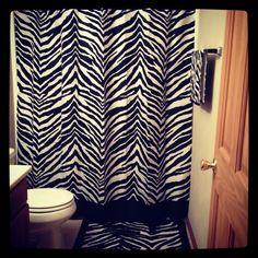 Zebra print bathroom <3