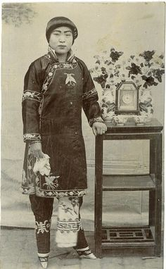 Except for the bound feet, this could be Lin Mei Chinese Woman with bound feet- 1890