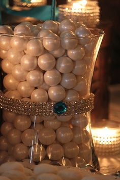 For the Sophisticated Candy buffet try adding  candles and candy with colors and texture of  teal &  peacock