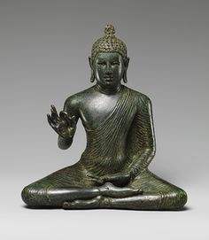 Seated Buddha Expounding the Dharma [Sri Lanka] (2009.60) | Heilbrunn Timeline of Art History | The Metropolitan Museum of Art  Late Anuradhapura period (750–850), late 8th century Sri Lanka Copper alloy