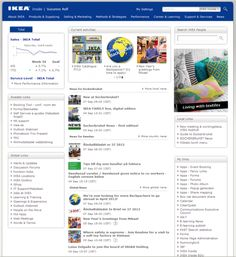 ikea sharepoint intranet sales targets on rhside could instead track departmental turnaround etc on - Sharepoint Design Ideas