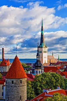 Tallin, Estonia - clear northern light and flat horizon