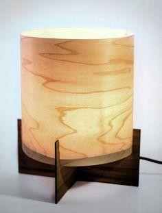 EMBER series Modern Maple Wood Veneer Table Lamp by portrhombus