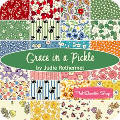 Grace In A Pickle Yardage Judie Rothermel for Marcus Brothers Fabrics - Fat Quarter Shop (Granny Squares?)