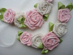 Bridesmaids Necklaces Shabby Chic Garden by RosesForClementine, $58.00