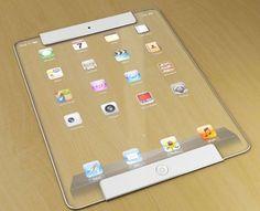 Future technology Concept Transparent iPad