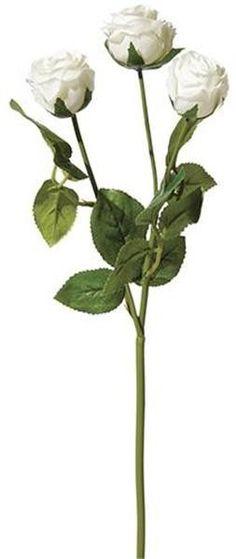 "Silk Rose Pick in White 17"" Tall"