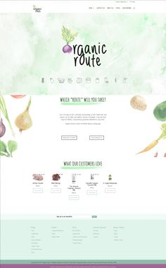 Website design for Organic Route in Hout Bay. They wanted an ecommerce site to sell all their awesome organic produce! #organic #website #design #ecommerce