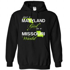 (MDJustXanhChuoi001) Just A Maryland Girl In A Missouri - #gift ideas for him #grandparent gift. ACT QUICKLY => https://www.sunfrog.com/Valentines/-28MDJustXanhChuoi001-29-Just-A-Maryland-Girl-In-A-Missouri-World-Black-Hoodie.html?68278