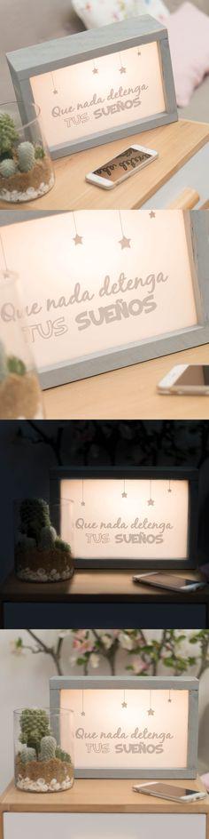 """Caja de luz """"Que nada detenga tus sueños"""" - Lightbox"""