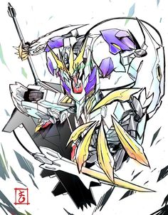 Lupus Rex Arte Gundam, Gundam Wing, Gundam Art, Barbatos Lupus Rex, Gundam Iron Blooded Orphans, Gundam Astray, Gundam Wallpapers, Gundam Custom Build, Cool Robots