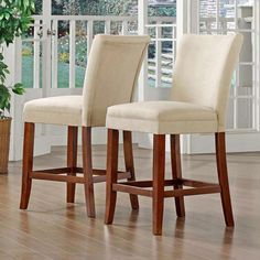 TRIBECCA HOME Parson Classic Cherry Peat Microfiber Counter-Height Chairs (Set of 2) | Overstock.com Shopping - The Best Deals on Bar Stools $160/2