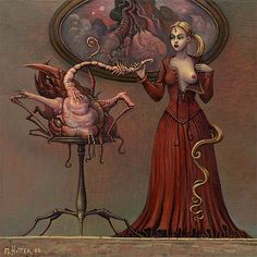 Sex, Satan and surrealism: The unsettling erotica of Michael Hutter Art Bizarre, Weird Art, Strange Art, Illustrator, Nurse Art, Horror Art, Surreal Art, Fantasy Creatures, Erotic Art
