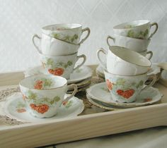 Beautiful Vintage Teacup and Saucer with by VerasTreasures on Etsy