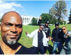 Bell Biv Devoe w/ Chris spencer on the White House lawn