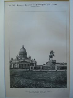 Peter the Great and St. Isaac's , St. Petersburg, Russia, 1890, Unknown