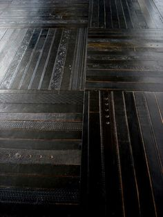 'Wooden floor' made of belts by Ting, London