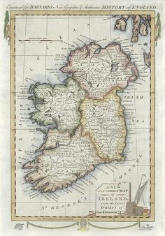 Antiques Maps, Atlases & Globes British Isles Durable Service Diplomatic Antique Map