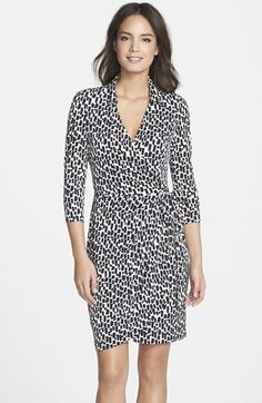 Maggy+London+Print+Long+Sleeve+Jersey+Wrap+Dress+(Regular+&+Petite)+available+at+#Nordstrom