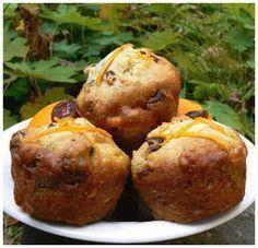 Muffin dates et orange Breakfast Muffins, Muffin Recipes, Baked Potato, Orange, Biscuits, Caramel, Sandwiches, Brunch, Nutrition