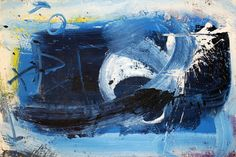 blue abstract painting art by Albino Pitti