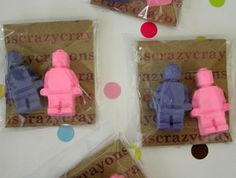4 Party Favours - Minifigure Crayons $9.50 felt.co.nz