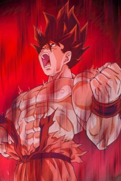 Goku - Kaiō Ken one of my fav moves of the show it looked so cool when he battle cooler and lord slug