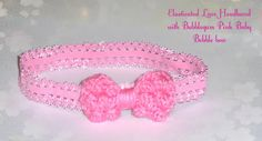 Baby, Toddler & Girl's Elasticated Headband with Bow. on Etsy, £6.00