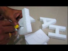 THERMOCOL CUTTING 3D text - YouTube
