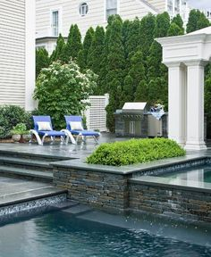 The privacy created by the trees makes this pool patio! Imagine having to talk to the neighbors every time you went out to the patio! You'd hardly use it!