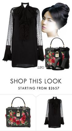 """Just Right ~ LBD"" by runners ❤ liked on Polyvore featuring Dolce&Gabbana, Versace and Kendall + Kylie"
