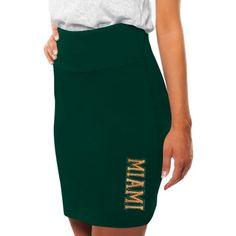 $27.99 Miami Hurricanes Womens Pencil Skirt - Green