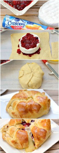 Cranberry and Brie Baked Cheese Appetizer
