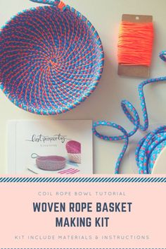 Looking for an easy tutorial to make an coil rope basket and this one is just perfect. #DIY #giftsforher #affiliatelink #homedecor