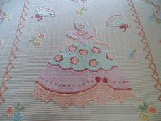 vintage chenille bedspread southern belle by loonlandlinens