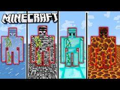 4 Portals in Minecraft Minecraft Redstone, Minecraft Games, Minecraft Crafts, Minecraft Ideas, Minecraft Bedroom, Minecraft Furniture, Baby Zombie, Modern Minecraft Houses