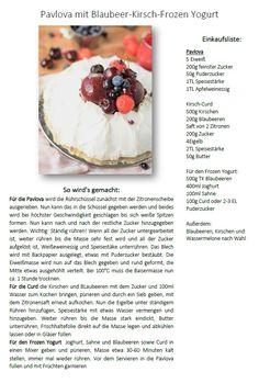 Pavlova with frozen blueberry cheery yogurt - Pavlova mit Frozen Yogurt | Das Knusperstübchen