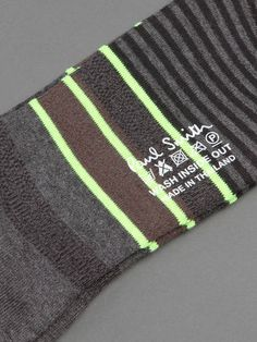 Closet Essentials / FLASHY TOUCH w/ Paul Smith striped multicolored socks