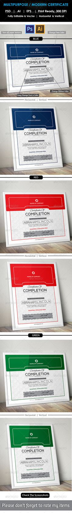 Certificate  Certificate Templates Adobe Illustrator And