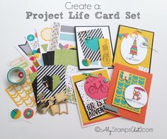 Project Life by Stampin' Up! Accessory Kits make the sweeeeetest card sets! Not just for scrapbooking!