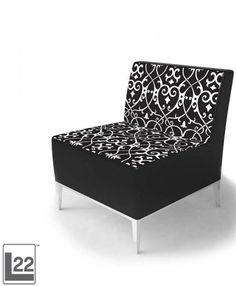 Get glam with CORT Event's Essex Chair -- a combination of modern black and white pattern and contemporary design with metal finish legs. | Essex Chair cortevents.com