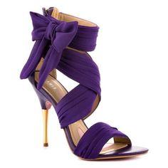 Purple wedding shoe ❤ liked on Polyvore featuring shoes, purple shoes, purple bridal shoes, evening shoes, wedding shoes and bridal shoes